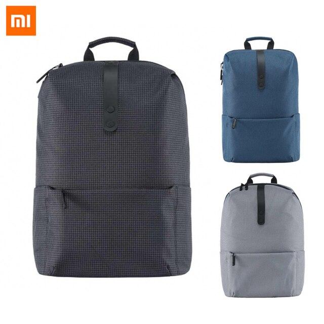 2017 Novo Xiaomi Moda Mochila Escolar Saco Sacos Terno de Poliéster Durável Para 15.6 Polegada 600D Computador Portátil
