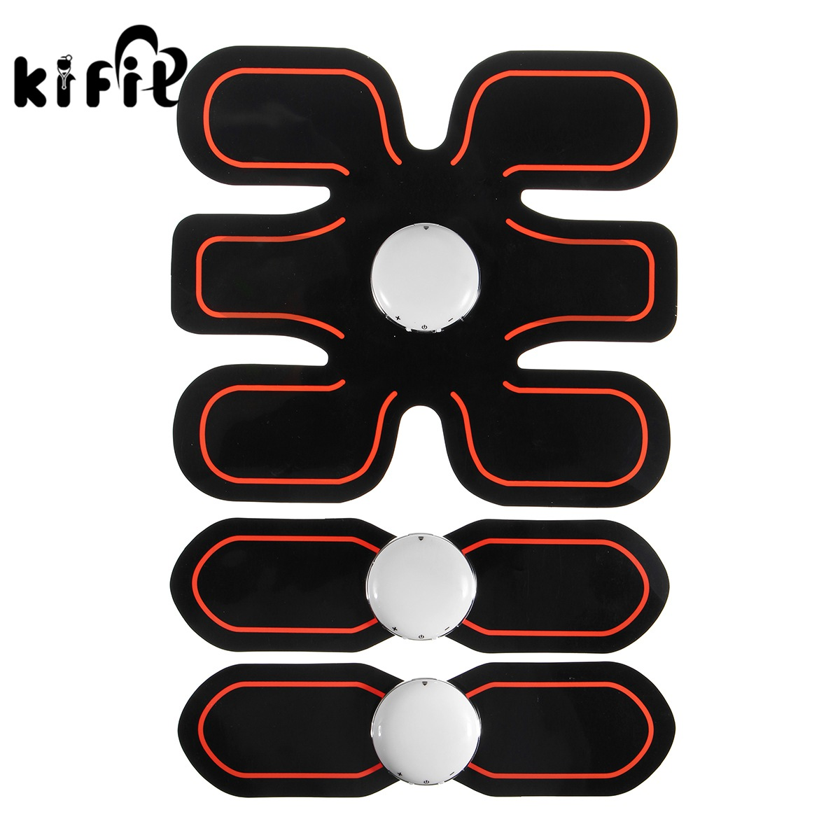 Kifit Muscle Training Gear Training Fit Body Exercise Shape Fitness Tool Home Use Pad Electric Weight Loss Slimming Massager 1005f fitness equipment ultrathin body massager power board exercise power plate for slimming blood circulaation machine 220v
