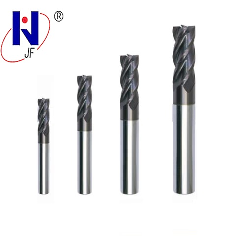 JF GES 3 5 8 4 50 4T Solid carbide 4 flute flattened end mills with straight shank milling cutter HRC70 PT Coated in Milling Cutter from Tools