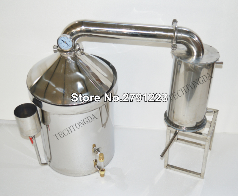 304 Stainless Steel Alcohol Distiller and Accessories 32L Alcohol distiller Large Capacity Home Brewing Device brewing