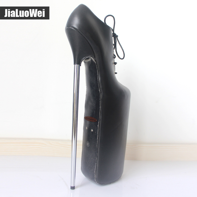 56780a2539 Women Boots Handmade Shoes 30CM Extreme High Heel +20CM Platform Fetish  Sexy Metal Heels Lace-up Patent Leather Thigh Hi boots