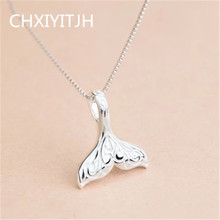 925 Sterling silver Pendant necklace The mermaid wholesale Men and women fashion jewelry