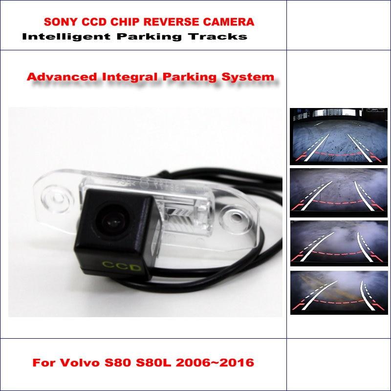 Caméra arrière de voiture pour Volvo S80 S80L 2006 ~ 2016 voies de stationnement intelligentes sauvegarde inverse 580 lignes de télévision guidage dynamique tragectoire