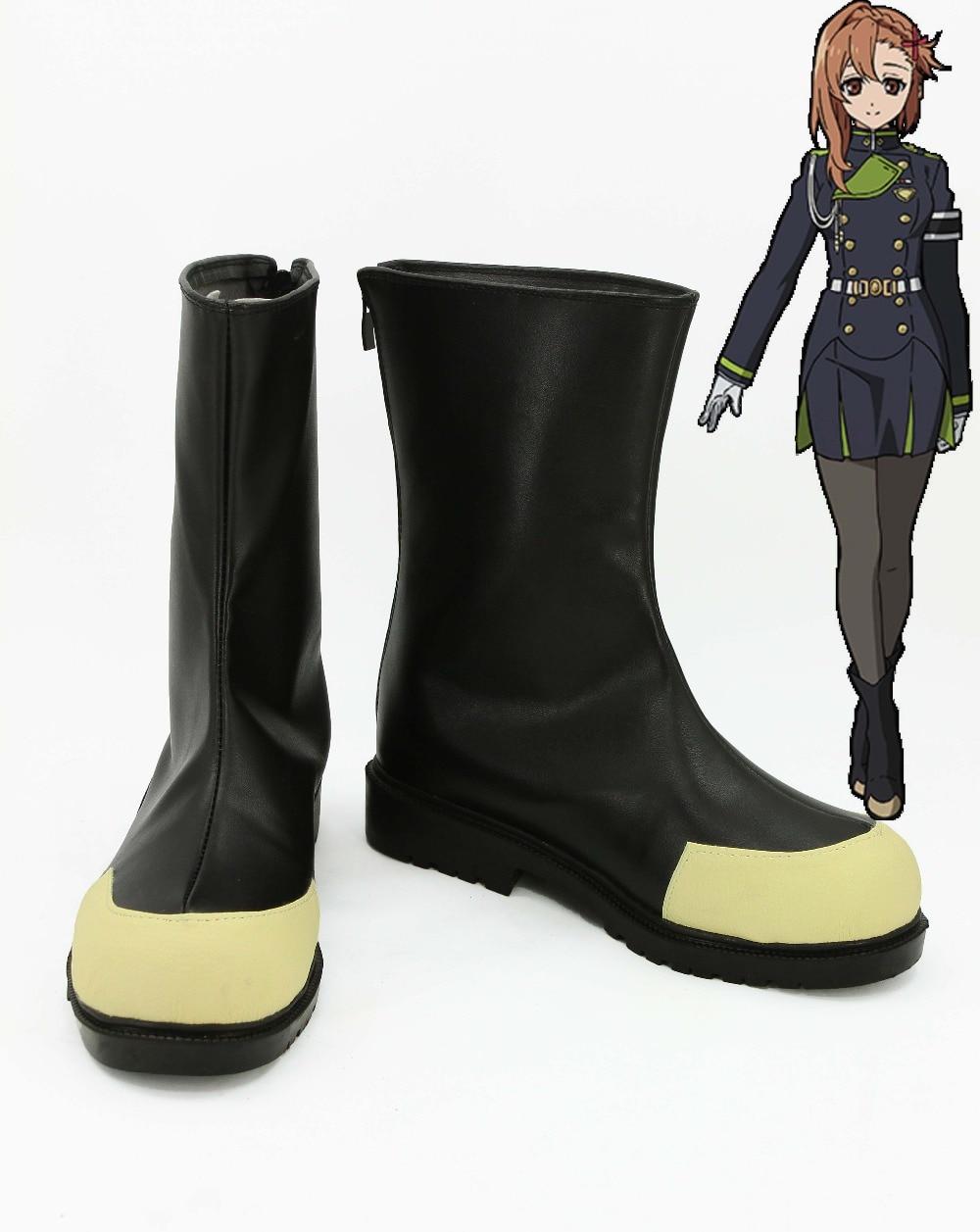 Seraph of the End Sayuri Hanayori Cosplay Boots Shoes For Costume European Size