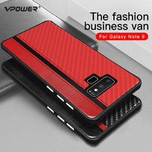 For Samsung Galaxy Note 9 8 Leather Case Vpower Carbon Fiber Protection Phone Back Cover for S8 S9 Plus PU
