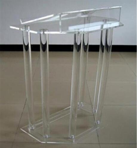 Free Shipping Lectern Transparent  Modern  Design Cheap Acrylic Lectern  Speak Rostrum Modern Elegant Floor Standing