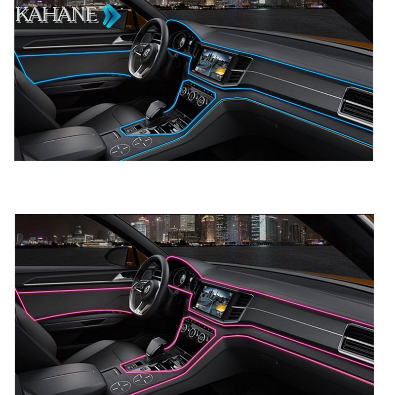 glow strip 2m car interior ambient cold light line dashboard console door for mercedes benz amg. Black Bedroom Furniture Sets. Home Design Ideas