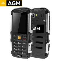 Оригинальный 3 г WCDMA AGM M1 Móviles IP68 Водонепроницаемый Dual SIM Bluetooth телефона 2.0 дюймов fm Radios 2.0MP сзади Камера 2570 мАч