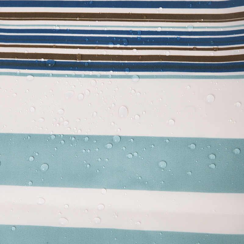 2019 جميلة الأخضر مخطط دش الستار البوليستر العفن مقاومة ستارة حمام مقاوم للماء ستارة الحمام الطازجة بالجملة