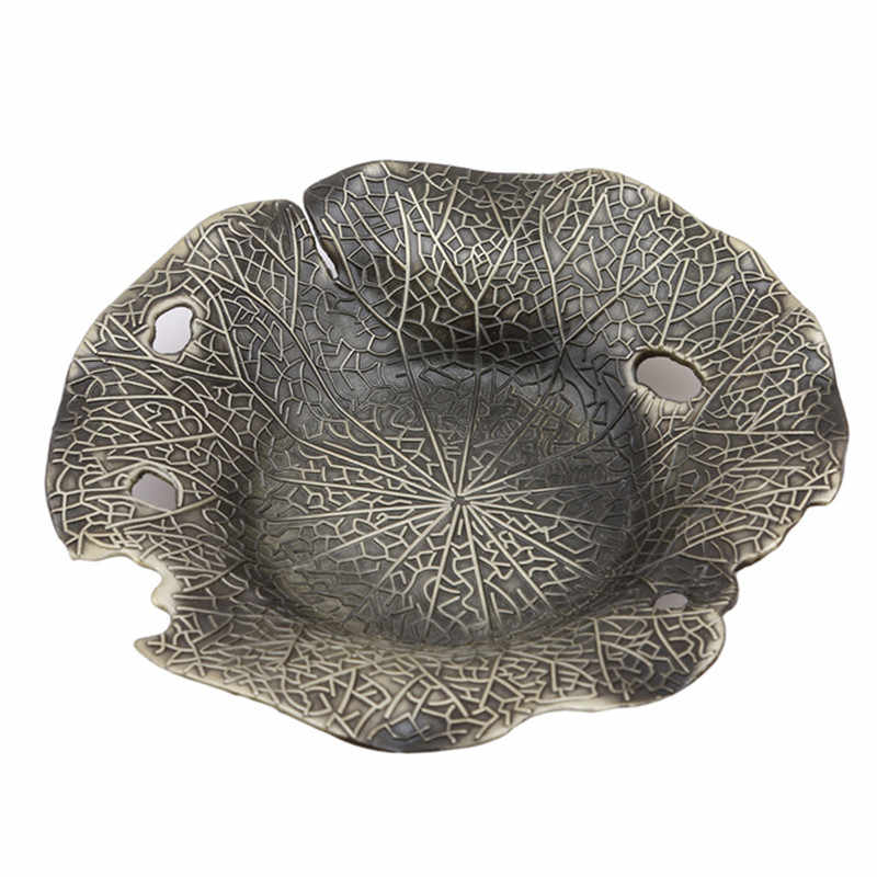 Creative MINI Alloy Teacup ถาด Lotus Outlook ถ้วยกาแฟถ้วยขาตั้ง Vintage สไตล์ Coaster จีน Teaware