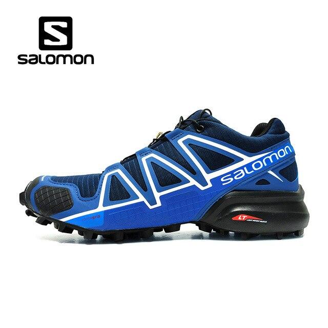 2cb02466ed2 Azul Salomon zapatos de hombre Speed Cross 4 CS zapatillas Cross-country zapatos  de encaje