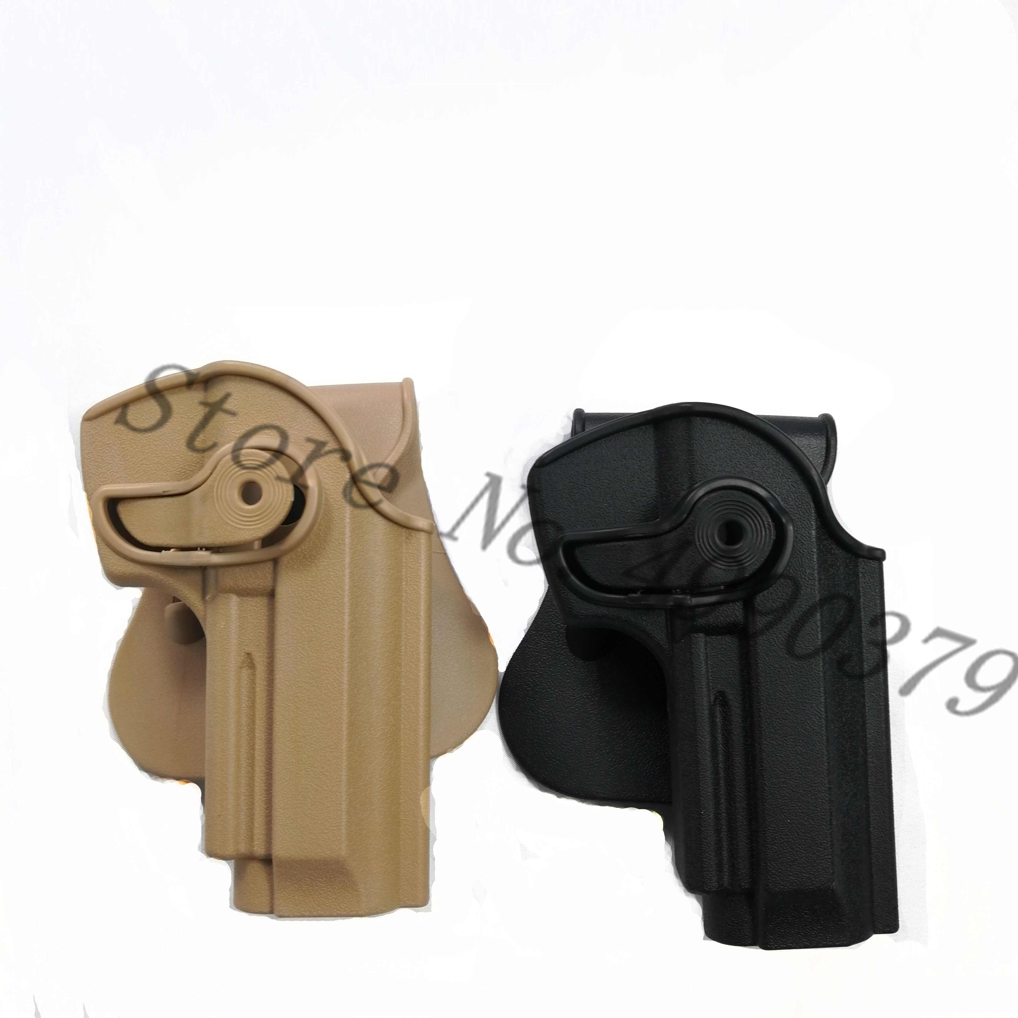 Image 3 - M9 Holster Tactical IMI Right Hand BERETTA M92 Holster Paddle Pistol Gun Holster Gun Airsoft Case Hunting Accessories-in Holsters from Sports & Entertainment