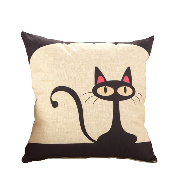 Rubihome gato encantador cojines sin interior patrón diseño animal ...