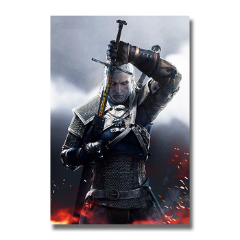 плакат гобелен Ведьмак 3 Дикая Охота шелк