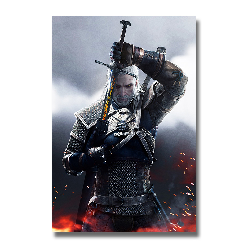 The Witcher 3 Wild Hunt Silk Posters Game Prints Wall Art Painting 12x18 24x36 Inch Decoration Pictures Living Room Decor 002