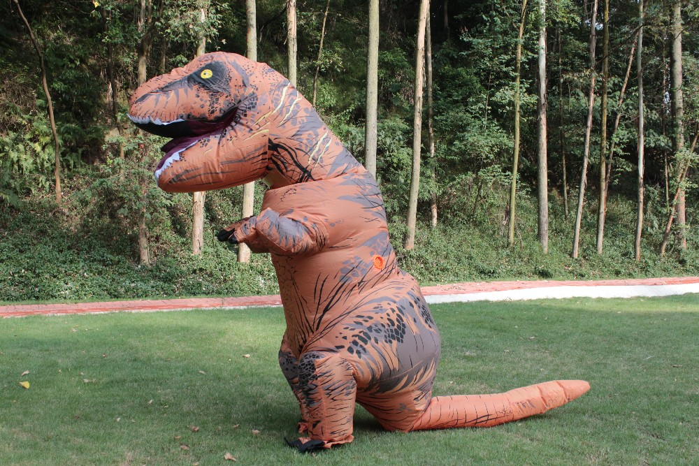 Inflatable Dinosaur T REX Costume Fantasia Adult Halloween Cosplay Outfit