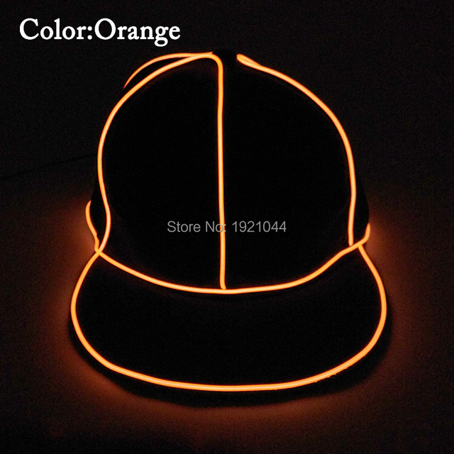 44ff1ee42e7b2 High-grade Hip Hop Glowing Cap EL Wire Flashing Party Hat Dance DJ Props  Night fluorescent Cap for Birthday Party Supplies