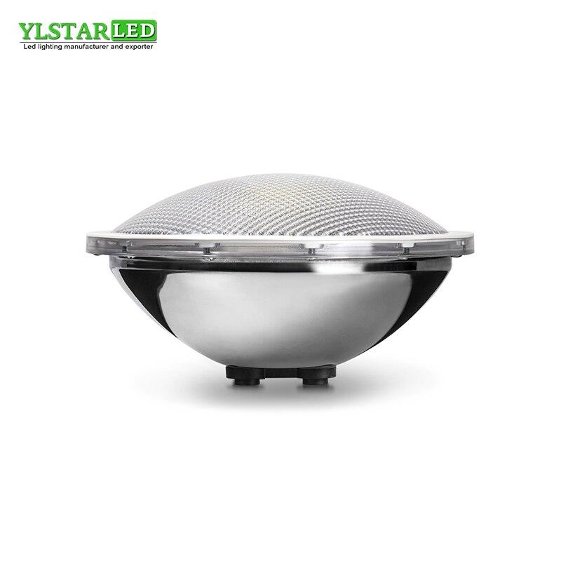 YLSTAR Livraison gratuite Acier Inoxydable 1 pcs COB LED PAR56 Piscine Lumière AC/DC12V 20 w 40 w 70 w IP68 Sous-Marine En Plein Air Lumière