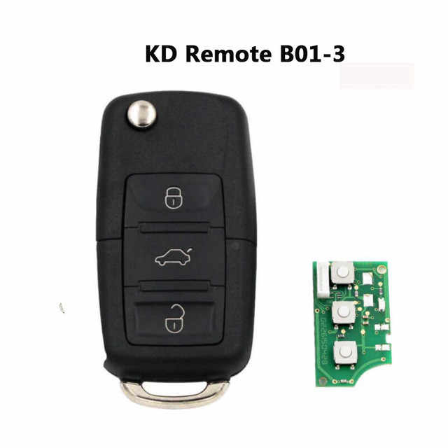 RIOOAK B01  KD Remote Control Key 3 Button Style B Series For  KD900+ URG200 Keydiy Key Programmer Machine for VW B01-3