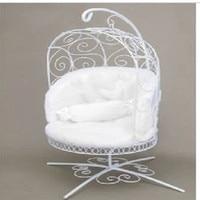 1/6 BJD Doll miniature furniture basket iron chair pullip msd