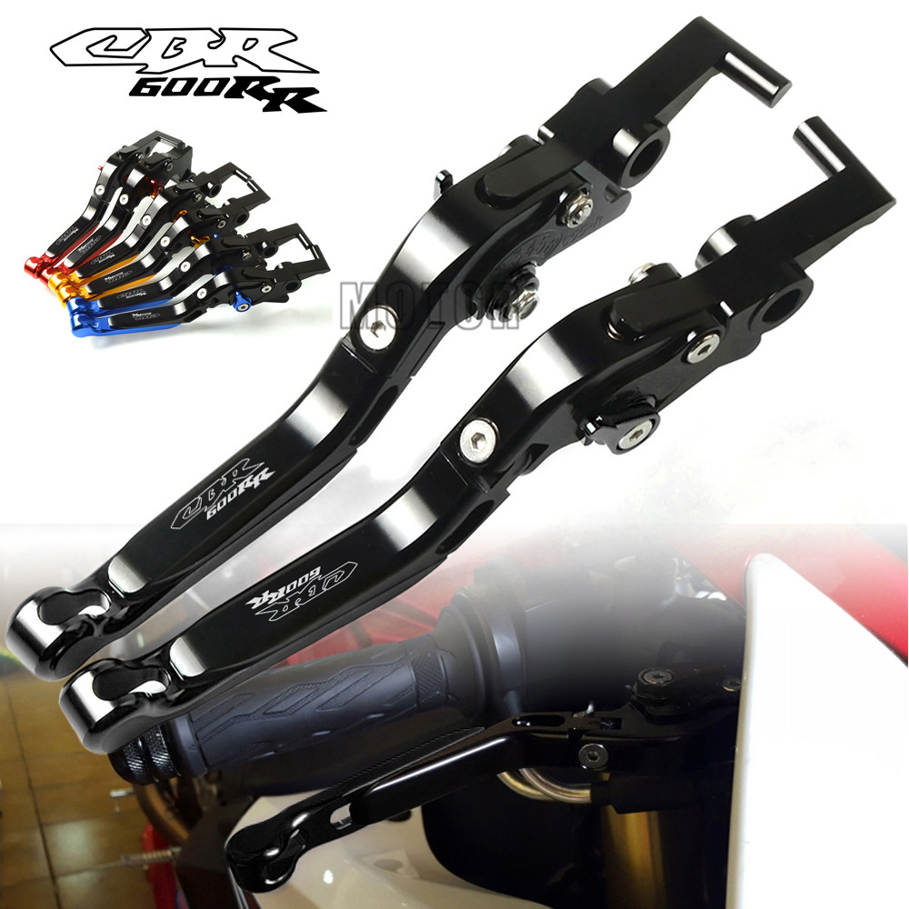Motorcycle CNC Aluminum Adjustable Folding Extendable Brake Clutch Levers For Honda CBR600RR 03 06 07 18