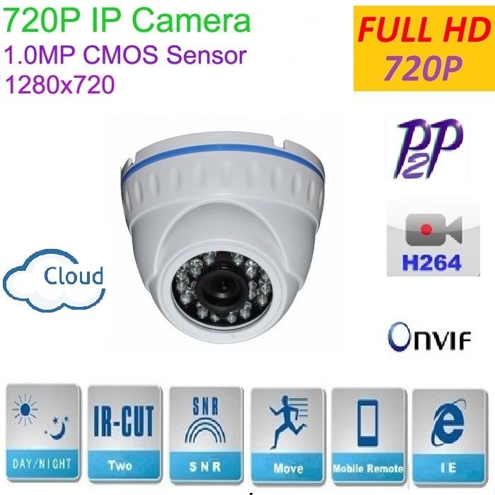 New type 1280*720P 1.0MP Mini Dome 720P IP Camera ONVIF H.264 P2P Indoor network camera IR CUT Night Vision Easy Plug and Play, 1080p 2 0mp 960p 1 3mp 720p 1 0mp 4led ir dome ip camera indoor cctv camera onvif night vision p2p ip security cam ir cut 2 8mm