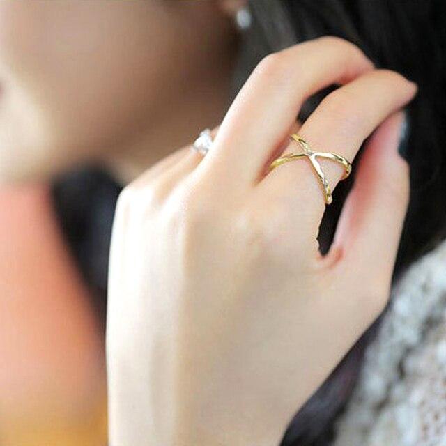 Fashion Metal Flower Rings For Women Girls