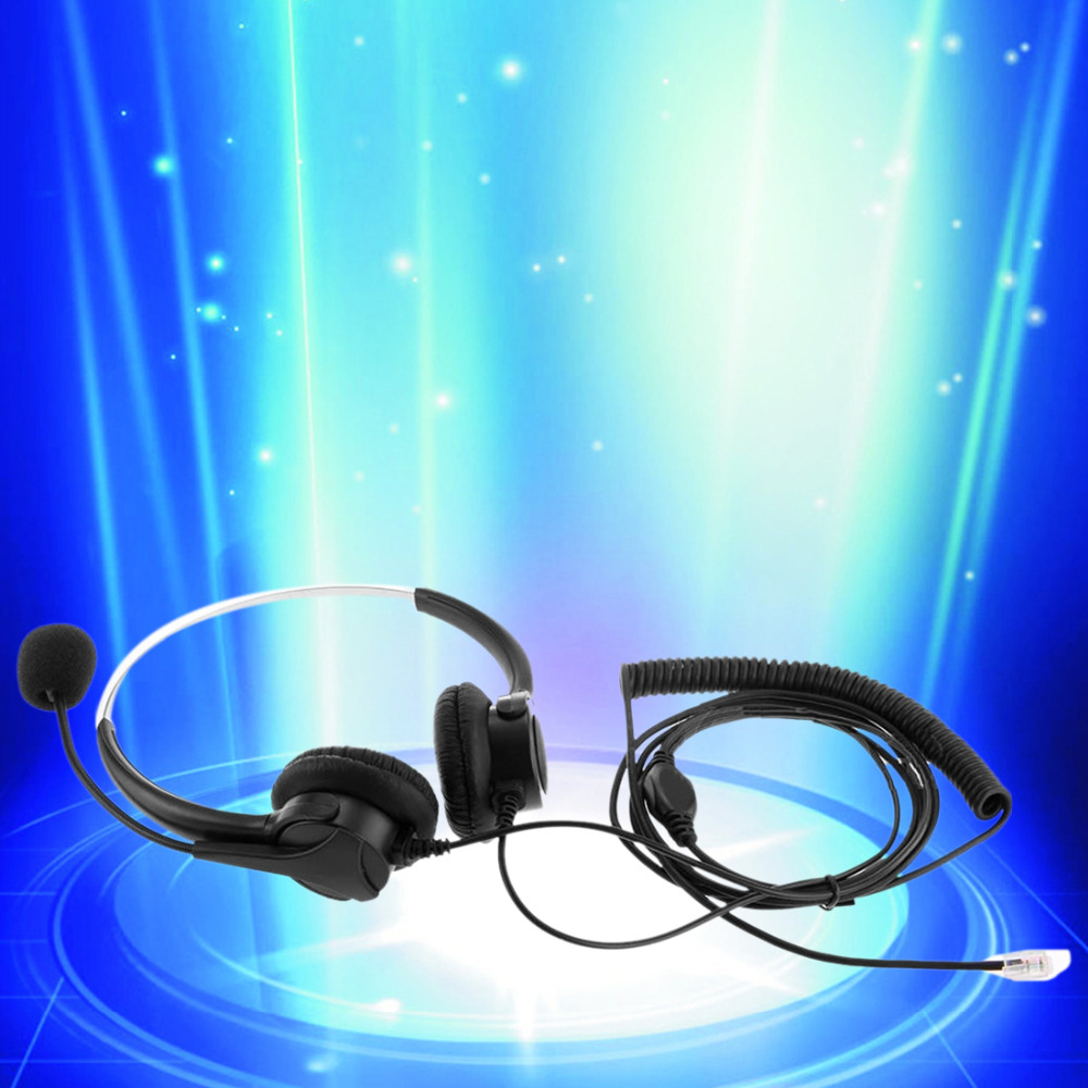 Marsnaska Brand New 4-Pin Call Center Corded Operator Telephone Headset High Quality Headphones with Microphone