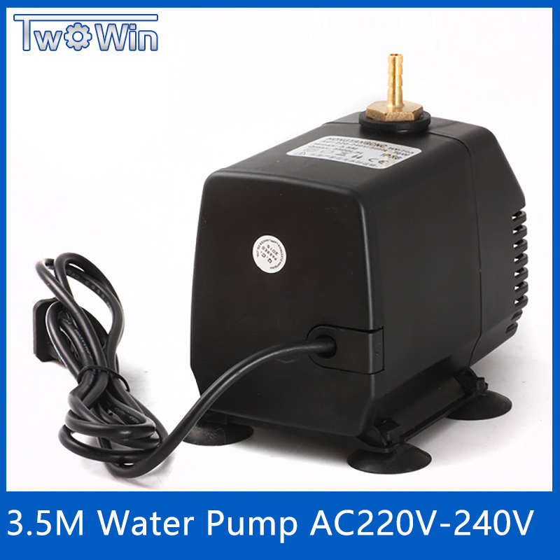 80W pump cnc engraving machine tool cooling cnc spindle motor water pump 220V 80W 3.5M for 1.5KW 2.2KW spindle motor 1pcs 75w 3 2m water pump engraving machine cooling tool for cnc router 2 2kw spindle motor and 1 5kw 0 8kw 800w spindle motor