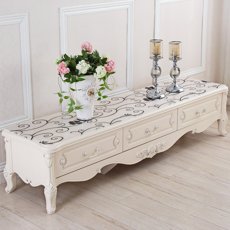 2017 Hot Rose Flower Printed PVC Table Cover Decorate TV Cabinet Cover  Fashion Plastic TV Cabinet