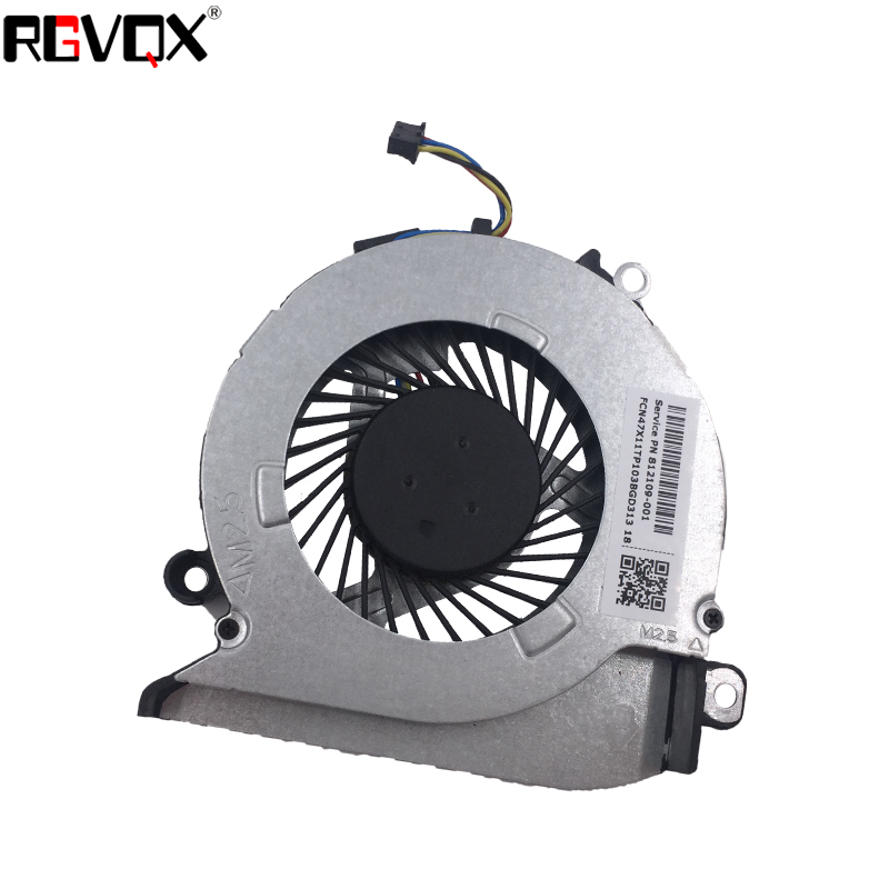 Купить с кэшбэком New Laptop Cooling Fan for HP Pavilion 15Z-A 15-AB 17-G 17-G015DX Original P/N 812109-001 CPU Replacement Cooler Radiator