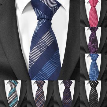 Moda wąski krawat krawaty dla mężczyzn dorywczo garnitury w kratę krawat Gravatas niebieskie męskie krawaty na formalne na wesele 6cm szerokość szczupłe męskie krawaty tanie i dobre opinie Gemay G M POLIESTER CN (pochodzenie) Dla osób dorosłych muszki Jeden rozmiar LD283 Plaid