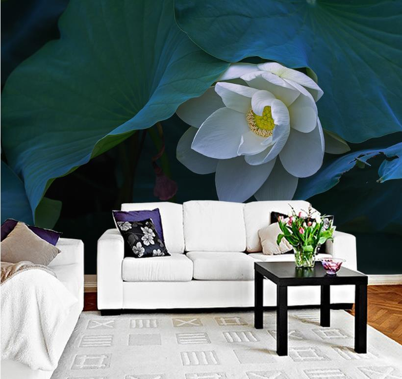 Mmodern style 3d papel de parede Lotus wallpaper TV backdrop nonwoven wallpaper Modern simplicity bedroom Decorative