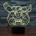 Luzes Da Noite de acrílico 7 cores 3D superman liga da Justiça superman action figure toy Home Decor IY803370 ilusão visual CONDUZIU a lâmpada