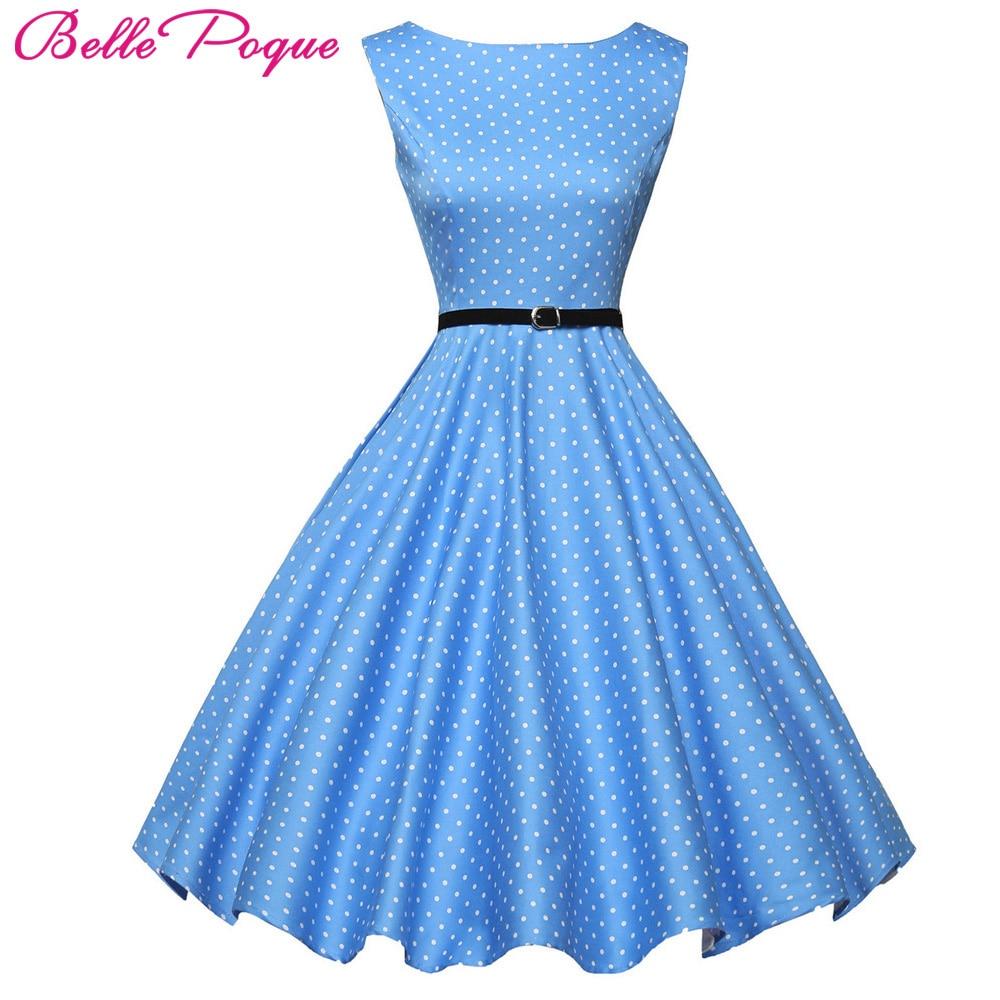 Womens 50s Vintage Dresses 2018 Summer Cotton Belt Audrey Hepburn Vestidos Plus Size London Princess Casual Party Pin up Dress