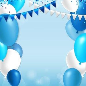 Image 2 - Allenjoy 사진 배경 파란색 점 플래그 풍선 파티 생일 photobooth 사진 스튜디오 신생아 원래 디자인