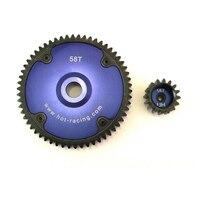 HR light weight hardened steel gear 58T Spur Gear 16T pinion for HPI Rovan BAJA 5B 5T 5SC