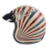 Hot Sale TORC T50 Route 66 Vintage Motorcycle Helmet Personality Retro Open Face Cruise Motorbike Helmet