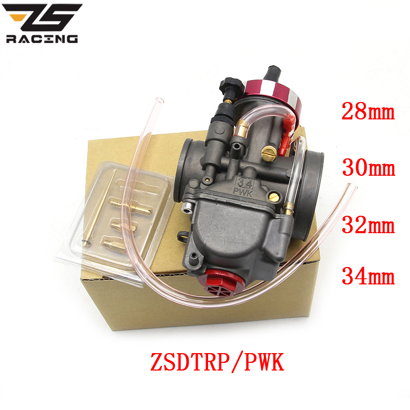 ZS Racing Universal Motorcycle Carburetor ZSDTRP PWK 28 30 32 34mm For Keihin Modify Off Road Scooter UTV ATV For 4T Engine zsdtrp pwk mikuni new modify model 28 30 32 34mm carburetor carburador case for yamaha fz16 and other brand motor