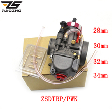 ZS Racing Universal Motorcycle Carburetor ZSDTRP PWK 28 30 32 34mm For Keihin Modify Off Road Scooter UTV ATV For 4T Engine
