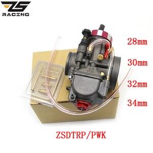 ZS Racing Universal Motorcycle Carburetor ZSDTRP PWK 28 30 32 34mm For Keihin Modify Off Road Scooter UTV ATV For 4T Engine