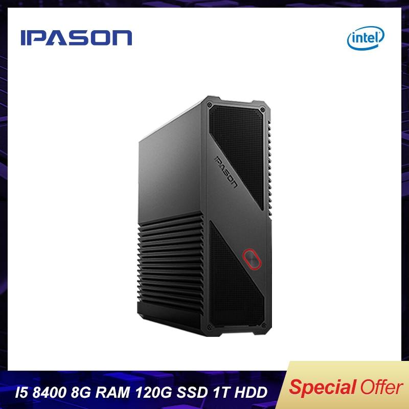 IPASON Gaming Mini PC 8th Gen Intel 6-Core I5 8400 8GB DDR4 1T 120G SSD Desktop PC For Windows10 Bare Bone Computer HDMI/USB*4