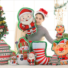 Santa Claus Snowman Elk Christmas Tree Stocking Plush Toy Soft Pillow Children Gift
