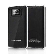 20000 мАч резервного копирования батарея портативный телефон зарядное устройство интеллектуальный мобильный ЖК дисплей цифровой светодиодный дисплей огни 2.1A/1A Dual USB запасные АК