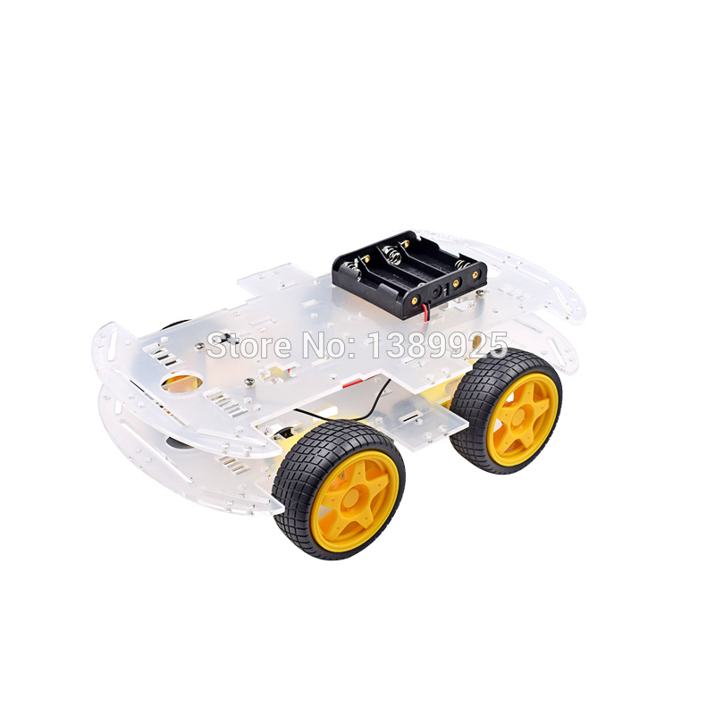 4WD Smart Robot Car Chassis Kits With Strong Magneto Speed Encoder