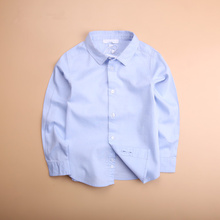 Brand  Hot Sale New Arrival 2018 Children Boys Shirts Cotton Solid Leisure Kids Shirts