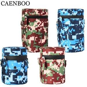 Image 5 - CAENBOO – sac à lentilles rétro dur en cuir PU, étui pour Canon, Nikon, Sony, Pentax, Fujifilm, Tamron, Sigma, pochette de protection universelle