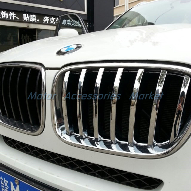 New Chrome Front Grille Cover Trim for BMW X3 F25 2011 2012 2013 2014 2015 2016