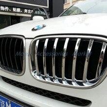 Хром Передняя решетка Накладка для BMW X3 F25 2011 2012 2013