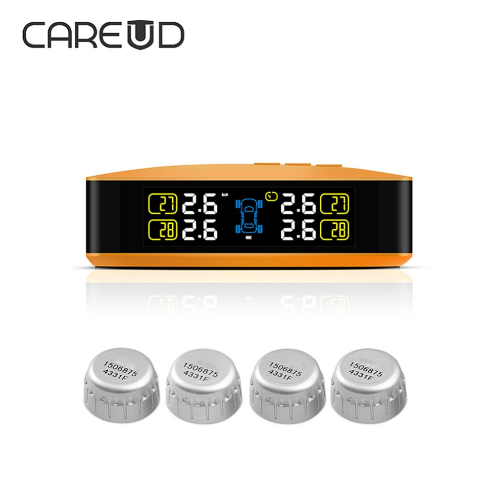 CAREUD Colorful Screen Car Tire Pressure Monitoring System PSI BAR Car TPMS with 4 Wireless External